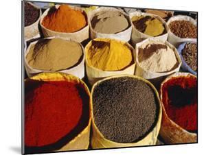 Sacks of Spices, Ouarzazate Market, Morocco, North Africa by Bruno Morandi