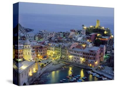 Village of Vernazza in the Evening, Cinque Terre, Unesco World Heritage Site, Liguria, Italy
