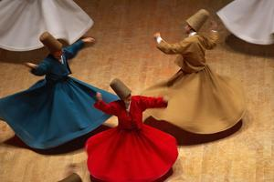 Whirling Dervishes at the Dervishes Festival, Konya, Central Anatolia, Turkey, Asia Minor, Eurasia by Bruno Morandi