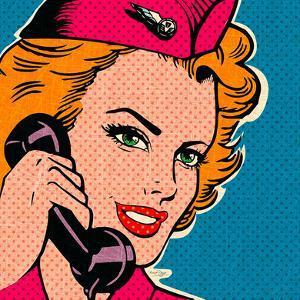 Flight attendant pink by Bruno Pozzo