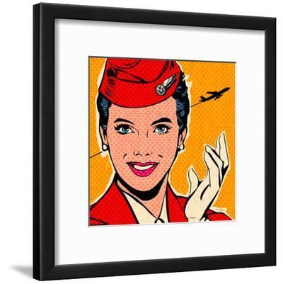 Flight attendant red