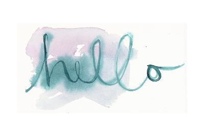 Brush Hello Lettering--Art Print