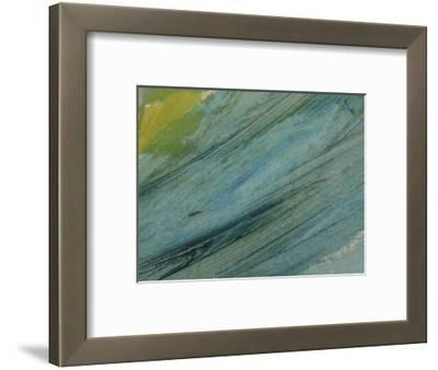 Brush Strokes on Abstractly Painted Background