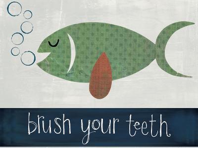 Brush Your Teeth-Katie Doucette-Art Print
