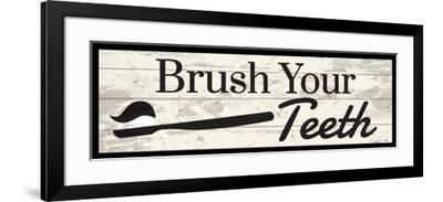 Brush Your Teeth-ND Art-Framed Art Print