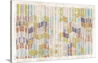 Brushed Chevron I-Jennifer Goldberger-Stretched Canvas Print