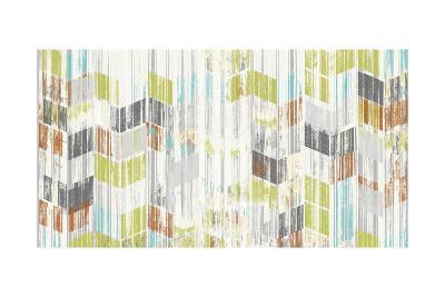 Brushed Chevron I-Jennifer Goldberger-Art Print