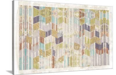 Brushed Chevron II-Jennifer Goldberger-Stretched Canvas Print