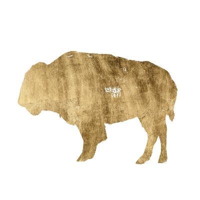 Brushed Gold Animals I-Grace Popp-Art Print