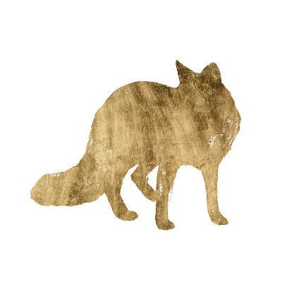 Brushed Gold Animals III-Grace Popp-Art Print