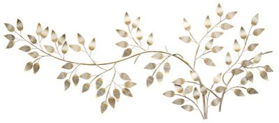 Brushed Gold Flowing Leaves