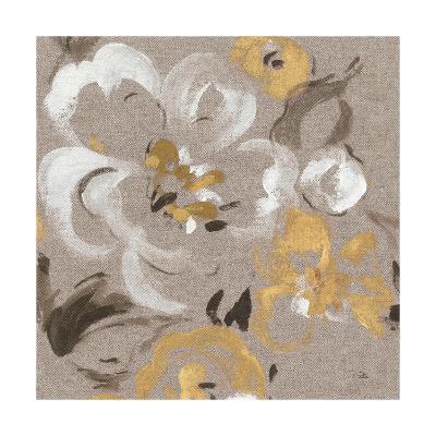 Brushed Petals II Gold--Art Print