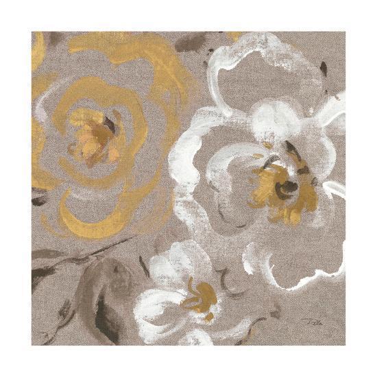 Brushed Petals III Gold--Art Print