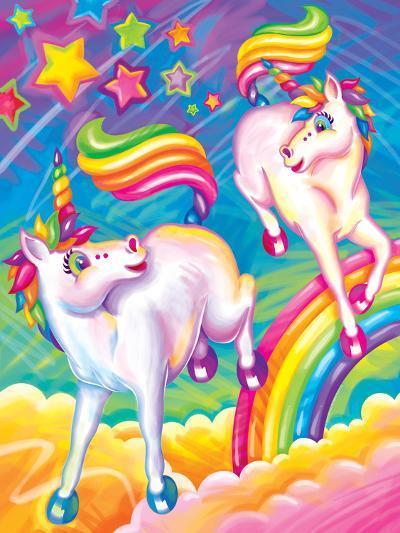 Brushstroke Unicorns-Lisa Frank-Art Print