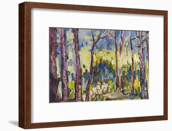 Brushy Treeline I-Erin McGee Ferrell-Framed Art Print