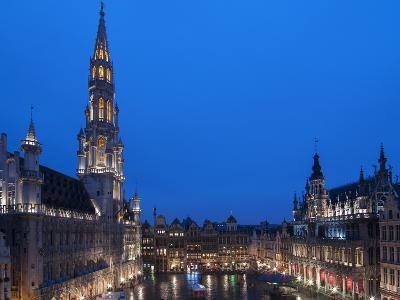 Brussels Grand Place 2-Charles Bowman-Photographic Print