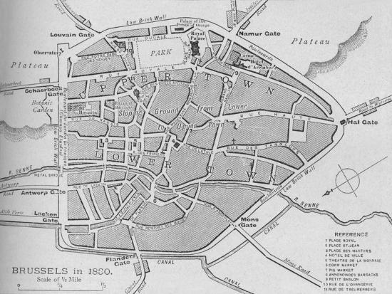'Brussels in 1830 - Plan', 1902-Unknown-Giclee Print