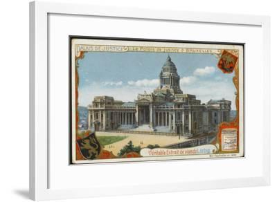 Brussels: Palais De Justice--Framed Giclee Print