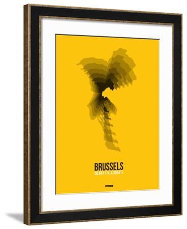 Brussels Radiant Map 4-NaxArt-Framed Art Print
