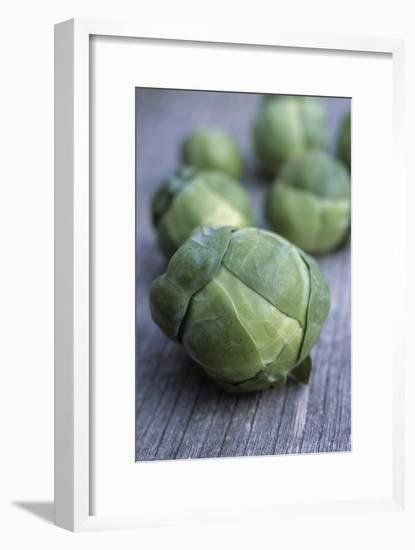 Brussels Sprouts (Brassica Oleracea)-Maxine Adcock-Framed Photographic Print