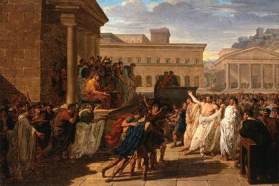 Brutus Listening to the Ambassadors from the Tarquins, c.1815-Louis Lafitte-Giclee Print