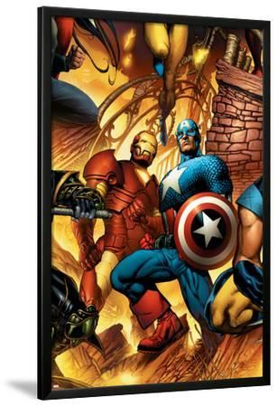 New Avengers No.6 Cover: Iron Man and Captain America