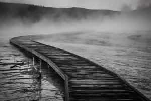A Boardwalk Winds Through Biscuit Basin, Yellowstone National Park by Bryan Jolley