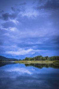 Mount Moran Rises Over Oxbow Bend On A Stormy Late Summer Morning by Bryan Jolley