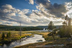 Peaceful Moment Along The Firehole River As It Passes Through Upper Geyser Basin In Yellowstone NP by Bryan Jolley