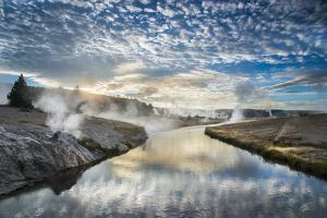 Sunrise On The Firehole River, Yellowstone National Park by Bryan Jolley