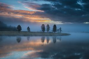 Sunrise Over The Yellowstone River In The Hayden Valley, Yellowstone National Park by Bryan Jolley