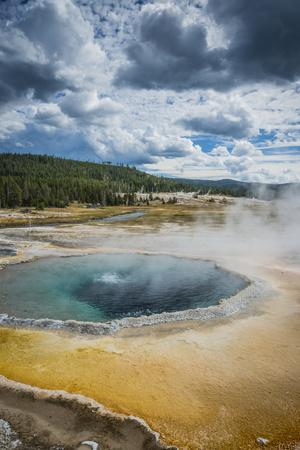 The Crested Pool In Upper Geyser Basin, Yellowstone National Park