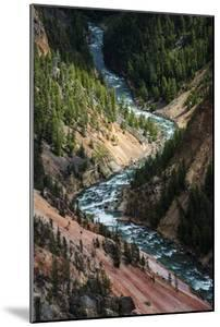 The Yellowstone River Carves Through The Grand Canyon Of The Yellowstone, Yellowstone National Park by Bryan Jolley