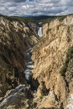The Yellowstone River Roars Through The Grand Canyon Of The Yellowstone
