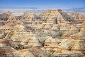 Usa, South Dakota, Badlands National Park, Beautiful ''Striped'' Rock Formation by Bryan Mullennix
