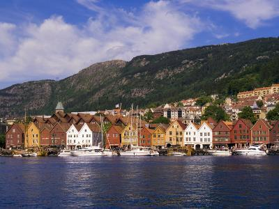 Bryggen Shopping District, Bergen, Norway-Michael DeFreitas-Photographic Print