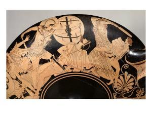 Attic Red-Figure Cup Depicting Scenes from the Trojan War, circa 490 BC by Brygos Painter