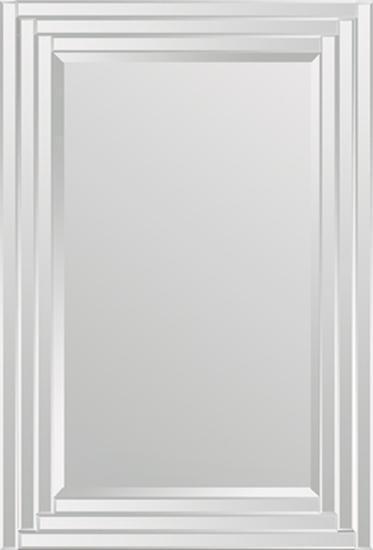 Brynn Step Frame All Glass Rectangular Mirror--Wall Mirror