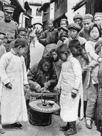 Street Gambling, China, 1922 by BT Prideaux