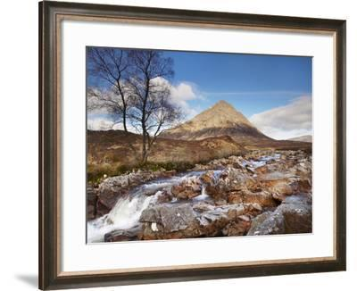 Buachaille Etive Mor and River Coupall, Glen Coe (Glencoe), Highland Region, Scotland-Patrick Dieudonne-Framed Photographic Print