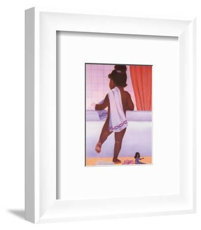 Bubble Bath Girl-Stanley Morgan-Framed Art Print