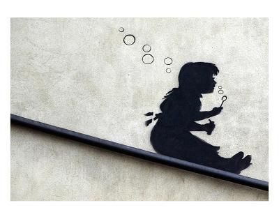Bubble Girl-Banksy-Art Print