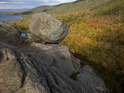 Bubble Rock, a Perfect Example of a Glacial Erratic-Tim Laman-Photographic Print