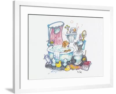 Bubbles on the Head-Bill Bell-Framed Giclee Print