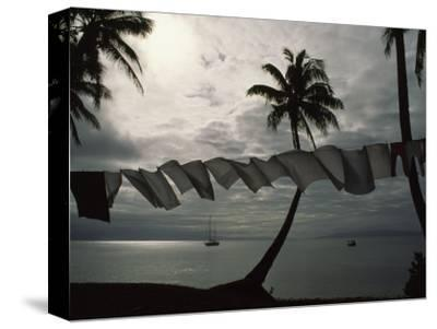 Buca Bay, Laundry and Palm Trees-James L^ Stanfield-Stretched Canvas Print