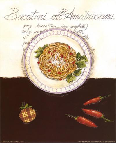 Bucatini All Amatriciana-Sophie Hanin-Art Print