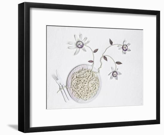 Bucatini With onion-Dimitar Lazarov-Framed Giclee Print