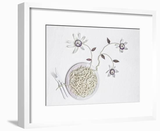 Bucatini With onion-Dimitar Lazarov-Framed Giclee Print