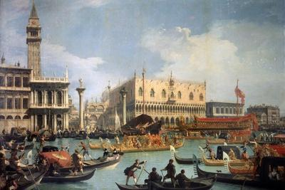 Buccentoro's Return to the Pier at the Doges' Palace, 1730S-Canaletto-Giclee Print
