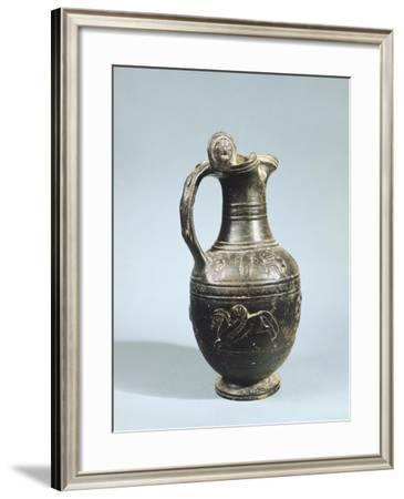 Bucchero Drinking Jug. Etruscan Civilization, 9th-1st Century BC--Framed Giclee Print